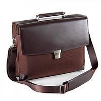 Деловой портфель коричневого цвета с отделом для ноутбука Fouquet арт. NBC-1002MBrown