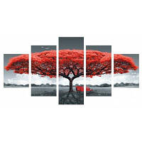 5шт гигантское дерево скамьи печать холст украшения стены мульти