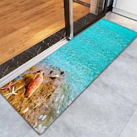 Напольный ковер с шаблоном 3D печатных бесплатных пляжей на Гавайях палас 16 ширина x 47 длина дюймов Разноцветный