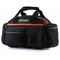 B-SOUL Открытая многофункциональная дамская сумочка сумка для путешествий экскурсия Черный и оранжевый