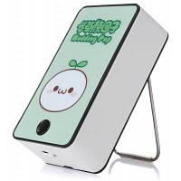 Мини портативный вентилятор USB в форме мультфильма Белый и зеленый