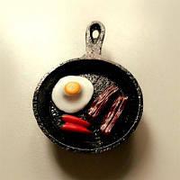 Творческий жареное яйцо Пан дизайн Смолаы ручной работы холодильник Магнит Цветной