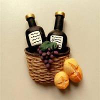 Креативный дизайн бутылки вина Смолаы ручной работы холодильник Магнит Цветной