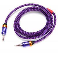 3.5мм Male на Male соединительный аудио кабель 1.5м Фиолетовый