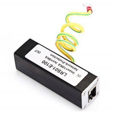 Сети От Перенапряжения Устройство Ethernet Протектор Чёрный, фото 2