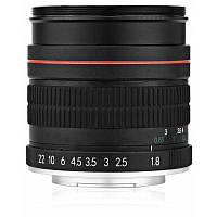 Lightdow портрет 85мм F1.8 объектив телеобъектив интерфейс для Nikon Чёрный