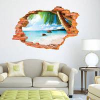 ДСУ творческих пляже 3D стикер стены обои Цветной