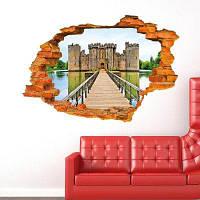 ДСУ творческих Древний замок 3D стикер стены обои Цветной