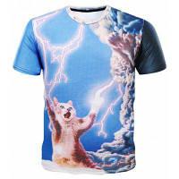 3D на молнии с коротким рукавом Веселые футболки M