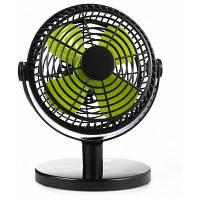 USB настольный вентилятор 7 дюймов для дома и офиса Чёрный и зелёный