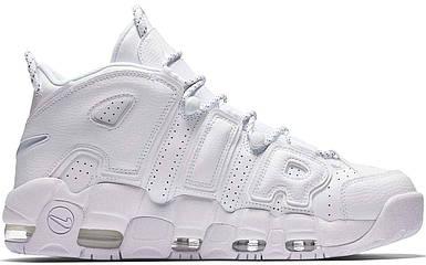 Женские и мужские кроссовки Nike Air More Uptempo White