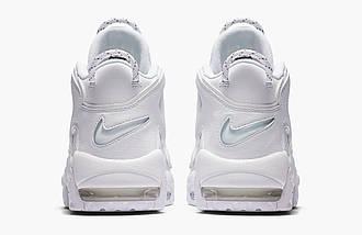 Женские и мужские кроссовки Nike Air More Uptempo White, фото 3