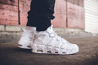 Женские и мужские кроссовки Nike Air More Uptempo White, фото 2