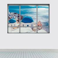 3Д Санторини стикер стены Разноцветный
