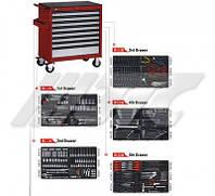 Тележка инструментальная с набором инструмента 496 ед.  JTC 5641+496 JTC