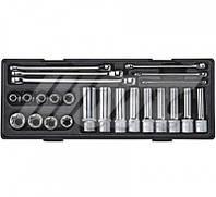 """Набор инструмента TORX ключи E6-E24, головки E10-E24 1/2"""" 24 ед. JTC K4241 JTC"""