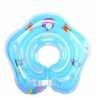 Детский плавательный нашейный круг ПВХ Синий