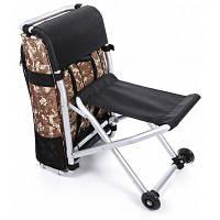 CTSmart Многофункциональный 2 в 1 тележка и рюкзак и складной стул Пустыня цифровой кам