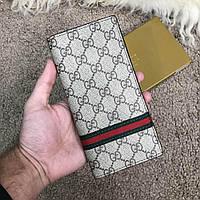 Gucci Long Wallet Web GG Supreme Canvas
