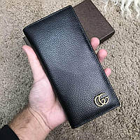 Бумажник Gucci Long Wallet GG Marmont Black
