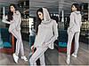 Женский спортивный ангоровый костюм с объемным воротом-капюшоном, фото 5