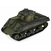 HENG LONG 3898-1 1:16 M4A3 Sherman танк на радиоуправлении-RTR Зеленый армейский