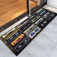 Противозаносный напольный ковер с шаблоном 3D печатной ретро магнитной ленты ковровые дорожки Цветной