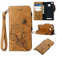 Ретро розовый PU кожаный магнитный замок бумажник флип защитный чехол с ремешок для xiaomi Редми 3С/3 про-/3 премьер Хаки