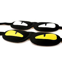 Черная повязка маска на глаза для сна