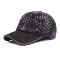 Регулируемый кожаный Бейсбол Hat для мужчин Коричневый