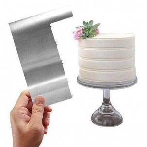 AK CS-02 Волнистый шпатель для украшения торта 2шт Серебристый, фото 2