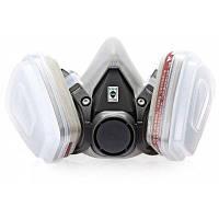 Пыленепроницаемый противогаз на пол лица маска комплект респираторов Серый