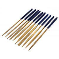 Позолоченные инструменты для резки дерева 10 шт Синий