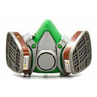 Пылезащитный газовый респиратор двойные картриджи системы безопасности Серый