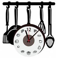 DIY кухня Стиль изделий ПВХ Настенные часы стикер Чёрный