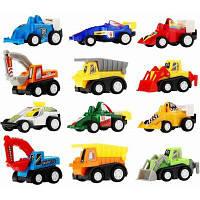 Мини автомобиль со строительством тянуть назад и гоночный автомобиль 12 шт для детей