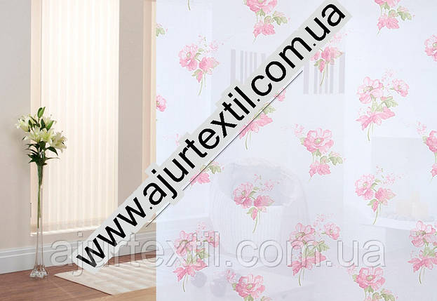 "Тюль ""Барбариска"" розовый, фото 2"