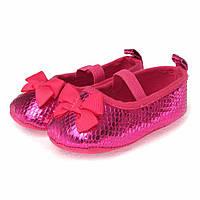 """Летние пинетки """"Бантики"""" для девочки антискользящие (обувь на первый шаг, размеры 11,5 см / 12,5 см) ТМ Berni"""