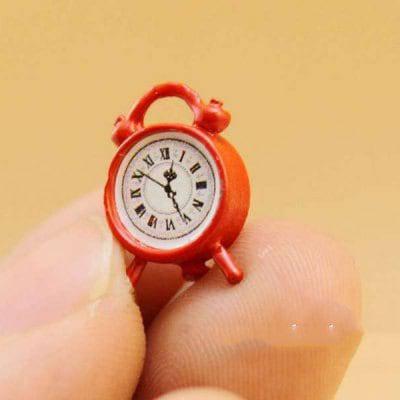 1:12 Масштаб Кукла Дом Миниатюрный Будильник Игрушка - Красный, фото 2