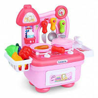 Игрушечный набор посуды для детей с котом из мульфильма Розовый