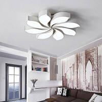 Современный простой потолочный светильник светодиодный дистанционного управления 220В Белый