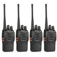 BaoFeng 4шт BF-888S UHF400-470Мгц портативная переносная рация для радиопереговоров Американская вилка