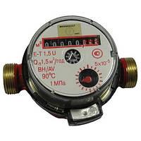 """Водомер для горячей воды Hidrotech ET-1,5 U 1/2"""", 1,5 куб., cо штуцером (00001701022692)"""