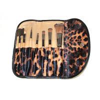 Todo Профессиональный набор кистей для макияжа сумка с леопардовым принтом 7шт дерево