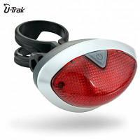 Перезаряжаемый велосипедный задний фонарь безопасности безопасности красный мигающий светодиод черный&красный