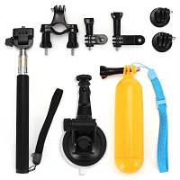 Ru-8 набор аксессуаров для универсальных спортивных экшн камер Чёрный