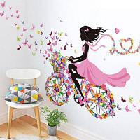 Цветок Фея ПВХ Водонепроницаемый стикер стены 80518