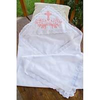 Батистовая крыжма для крещения с вышивкой для девочек GD-40-14-5