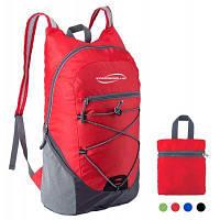 Ультралегкий рюкзак для путешествий альпинизма пеших прогулок школьного спорта 20л Красный