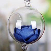 Подвесная стеклянная ваза в форме шара Прозрачный